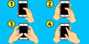 Как ты держишь смартфон, узнайте о себе многое
